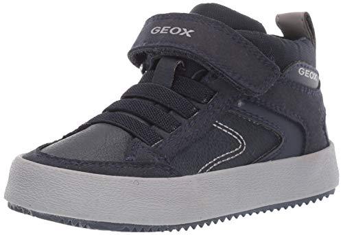 Geox Jungen J Alonisso Boy N Hohe Sneaker, Blau (Navy/Grey C0661), 35 EU