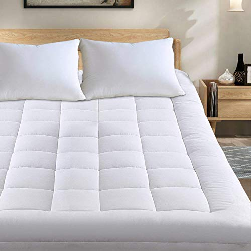 """Mattress PadCover Quilted FittedCooling Mattress Topper Mattress Protector with Down AlternativeCotton Topwith Stretches to 18"""" Deep Pocket Fits Up to 8""""-21"""" (King)"""