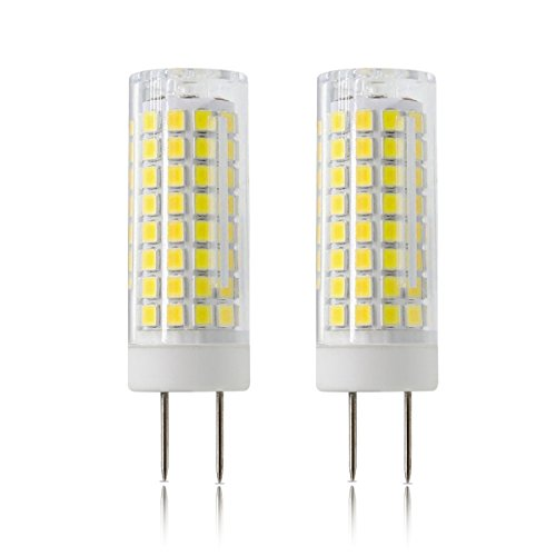 LED GY8.6 Bulb, All-New 7W T4 G8 LED Bulb, 75W Halogen Bulb Replacement, GY8.6 Bi-pin Base Light Bulb, AC120V, for Under Counter Kitchen Lighting, Light Fitting, 2-Pack ( White)