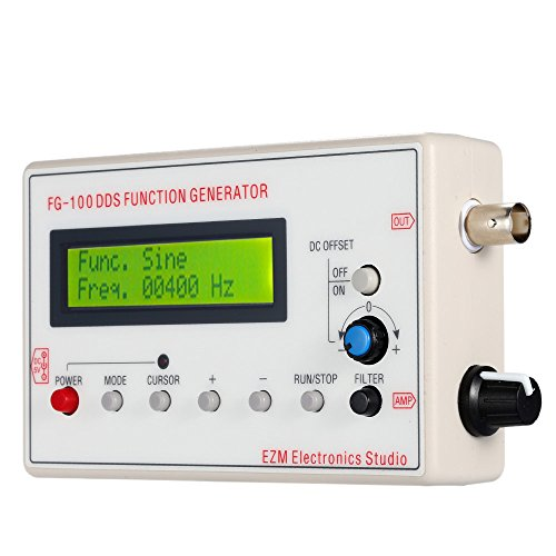 Generadores de funciones DDS 1HZ- 500KHZ,Generador señales funcional sinusoidal + cuadrado + triángulo + forma de onda diente de Sierra