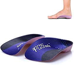 Pcssole's 3/4 Orthotics Shoe Insoles High Arch Supports Shoe Insoles for Plantar Fasciitis, Flat Feet, Over-Pronation, Relief Heel Spur Pain  (L:Men6.5-8.5/Women7.5-9.5)