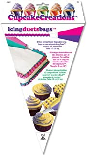 Cupcake Creations Disposable Duet Icing Bags, 12-Inch, by Cupcake Creations