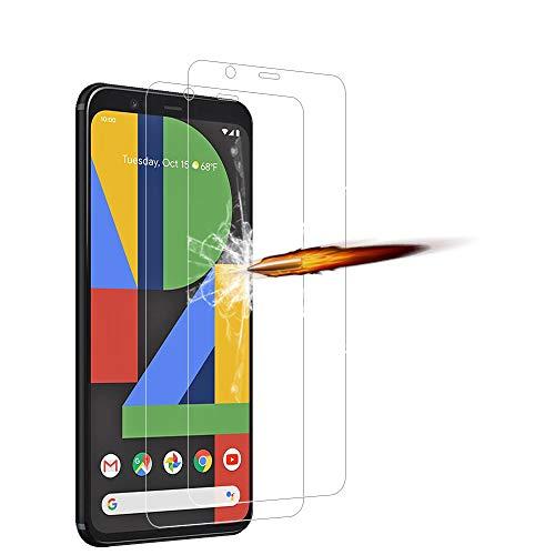 ANKENGS für Google Pixel 4 XL Panzerglas [2er Pack], Google Pixel 4 XL Schutzfolie Panzerglas, [Kratzfest] [Anti-Schaum] Google Pixel 4 XL Bildschirmschutzfolie