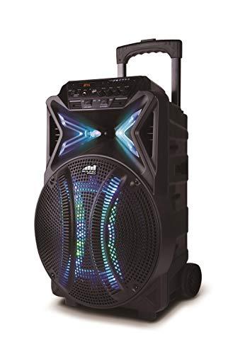 Naxa Electronics NAS-3087 Boomer Impulse Flash Bluetooth Boombox with LED Lights Black