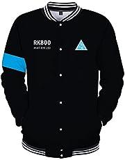 CTOOO Detroit Become Human Print Sweatshirt voor dames en heren, baseball-uniform, XXS-XXXXL