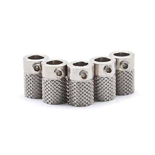 XIAOMINDIAN 1/2/5pcs for Ultimaker 2 UM2 Feeder Knurled Wheel Extruder Drive Gear stainless steel For 3D printer parts Bore 5mm Printer Parts (Size : 5 pcs)