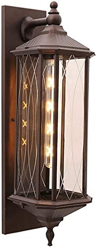 Lámpara de pared a prueba de polvo a prueba de agu Luces de pared al aire libre Played Vintage Montaje de pared Linterna Clásico Rústico Rústico Impermeable Impermeable Iluminación de pared Iluminació