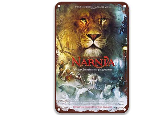 sfasf Narnia The Lion, The Witch and the Wardrobe – 2005, Vintage Movies Metal Tin Signs Funny for Toilet Decorative Outdoors Living Room Home Decoration Farmhouse 20,3 x 30,5 cm