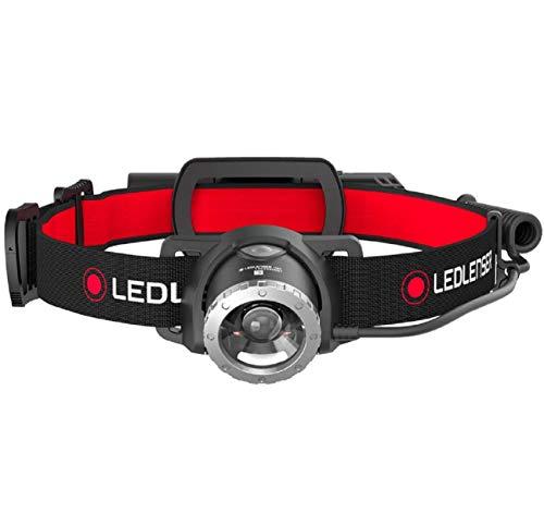 Ledlenser H8R, LED Stirnlampe, 600 Lumen, bis zu 120h Laufzeit, rotes Rücklicht, inkl. Akku, aufladbar, Box-Verpackung