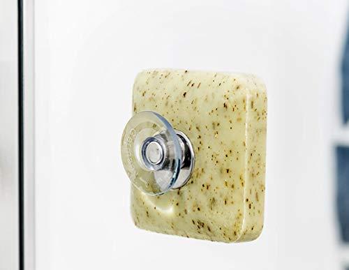 Seifenhalter mit Magnet by Savont® - neu, innovativ, sauber, umweltfreundlich und sparsam zur Seife - Waschbeckenhalterung (1 Stück)