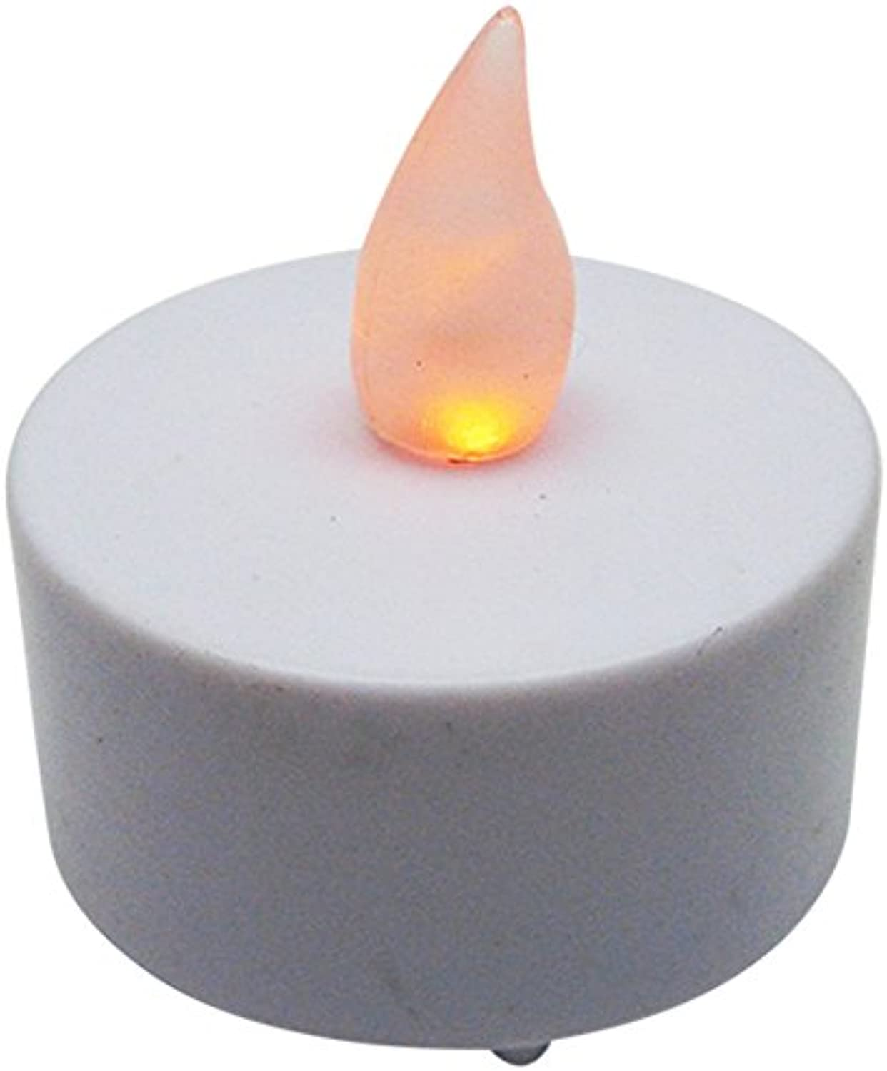 blueedot Trading Flameless Battery Operated LED Tea Lights, Amber color Flame, 100-Pack