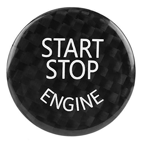 Motor del coche Arranque Botón de paro Interruptor Cubierta Ajuste Fibra de carbono negra Llavero del llavero de encendido Para 1~7 Serie F20 F21 F22 F23 F30 F31 F32 F33 F11 F30 F12 F13 F01 F02