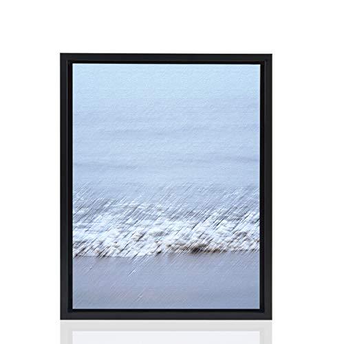 Stallmann Design Schattenfugenrahmen 59,4x84 cm (DIN A1) schwarz für Leinwand Bilderrahmen Keilrahmen für Leinwände aus Holz MDF