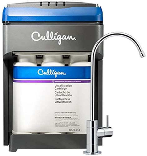 CULLIGAN US-3UF Ultra Filtration Under Sink Water 3Stage Drink WTR System, 15.75 x 12.00 x 11.22 inches, White