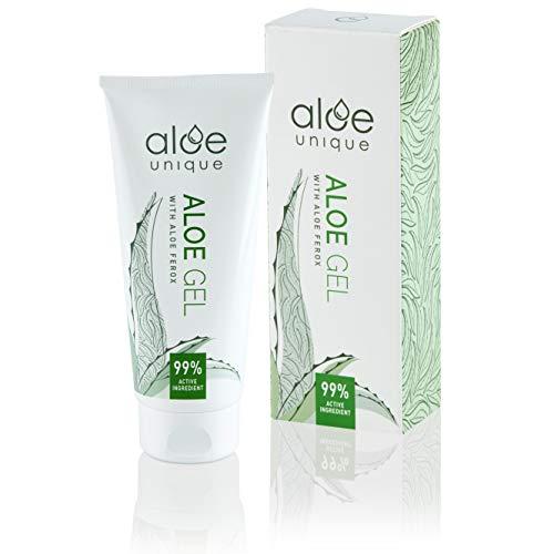 Aloe Gel mit Aloe Ferox (reichhaltiger als Aloe Vera Gel) - Natürliche Hautpflege für Gesicht & Körper - Vegan, Parfüm- & Parabenfrei, ohne Tierversuche, 100% natürlicher Wildwuchs - 75ml
