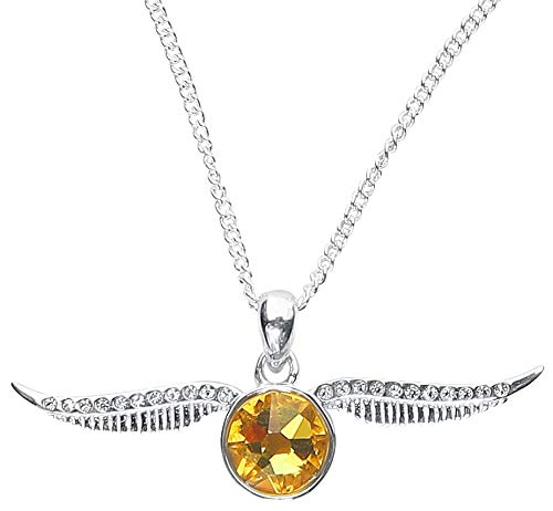 Harry Potter Golden Snitch Women Necklace Silver-Coloured, Sterling Silver,