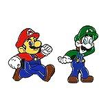 Alfileres de juego clásicos Super Bros Insignias de dibujos animados Broches Bolsa Ropa Alfileres de esmalte Regalos para fanáticos del juego-Set
