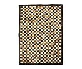 Zerimar Alfombra Patchwork | Patchwork Piel Natural | Alfombra Piel de Vaca | Medidas: 180x120 cm | Alfombras Decorativas | Alfombra Salón | Alfombra Patchwork | Alfombra Dormitorio