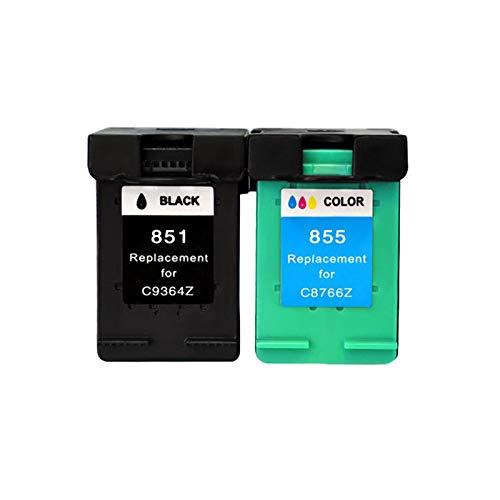 DYYPPWW Compatible 855XL 851XL Cartucho de Tinta, Alto Volumen de Impresión, Reemplazo,para HP Deskjet 4168 2758 8038 6318 Impresora,Black+Color
