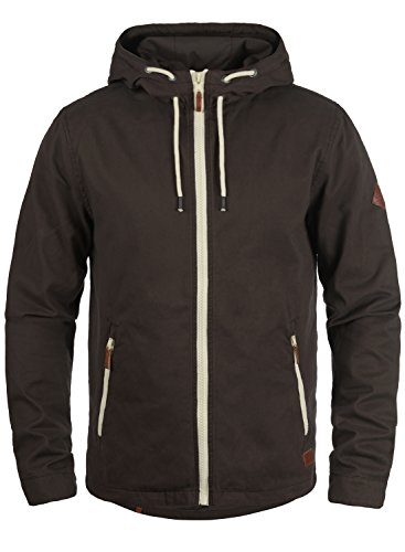 Blend Bobby Herren Übergangsjacke Herrenjacke Jacke gefüttert mit Kapuze, Größe:L, Farbe:Coffee Brown (71507)