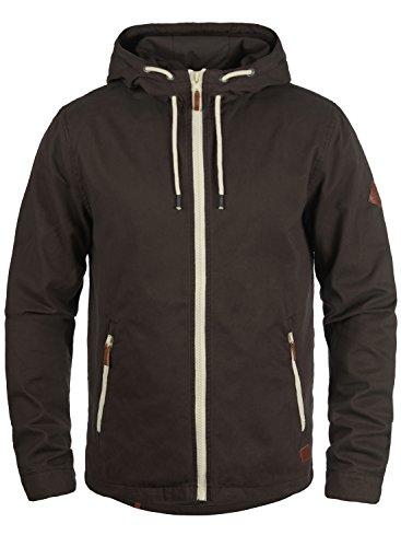 Blend Bobby Herren Übergangsjacke Herrenjacke Jacke gefüttert mit Kapuze, Größe:M, Farbe:Coffee Brown (71507)