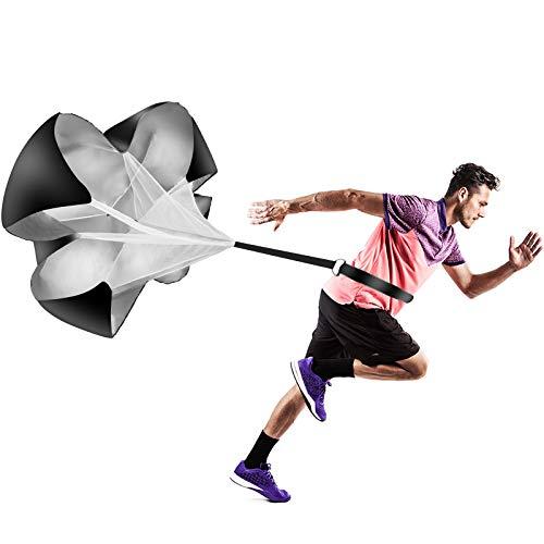 speed training parachute, running parachute speed training resistance umbrella adjustable hurdles speed chute for speed training football Basketball training fitness sprint equipment adults youth kids