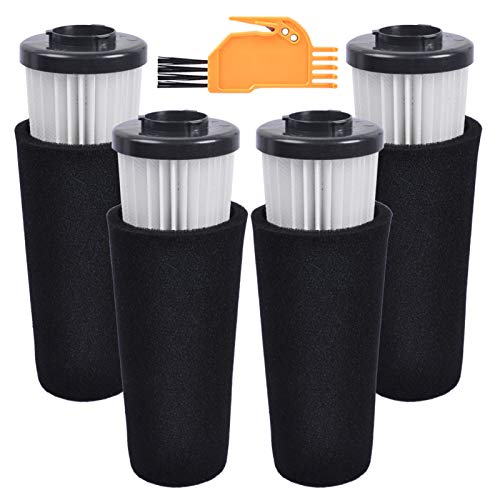 KEEPOW Replacement Odor Trapping F112 Filters for Dirt Devil Endura Upright Bagless Vacuum UD70174B UD20124 UD70182, 4 Pack
