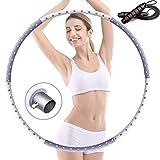 VANWALK Hula Hoop Fitness - Aro de hula hoop para adultos con espuma premium, núcleo de acero inoxidable estable, 1,2 kg, ajustable, peso desmontable, hula hoop
