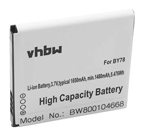 vhbw Akku 1650mAh für Smartphone Handy Handy Alcatel One Touch OT-6010, OT-6010D, OT-992, OT-992D, OT-991, OT-991 Play, OT-991D, OT-975N wie BY78.