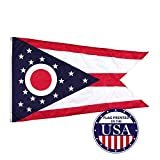 Vispronet - Ohio State Flag - 3ft x 5ft Knitted Polyester, State Flag Collection, Made in The USA (Flag Only)