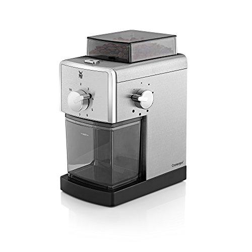 WMF Stelio Kaffeemühle Edition Scheibenmahlwerk (110 Watt, aus Stahl, 17-stufiger Mahlgrad, 2-10 Tassen, ideal für Filterkaffee oder French Press)