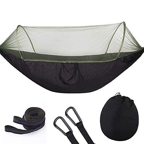 KSITH Camping Mosquito Net Hangmat, Outdoor Parachute Doek Automatische Snelheid Open Tent Type Nylon Draagbare Indoor en Outdoor Hangmat