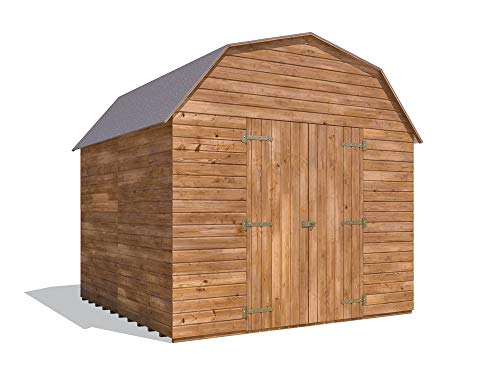 8x8 Dutch Barn Style Garden Shed Tool Storage Workshop Heavy Duty Timber