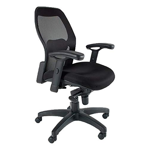 Mayline 3200 Mercado 3200 Mesh Back Task Chair with T-Pad Arms, Black