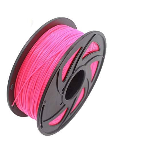 SHY-3D, 1kg 1.75mm 3D Printer Filament PLA ABS Plastic Material for CTC Reprap K8200 Unimaker Makerbot UP Afinia Solidoodle Delta Huxley (Color : Fluorescent Rose)