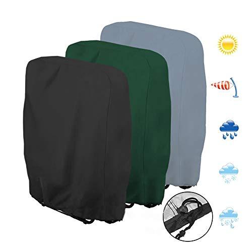 Abdeckhauben Gartenmöbel Abdeckung Outdoor Sonne Klappstuhl Staubschutz Oxford Tuch Wasserdicht Staubschutz (Color : Gray, Size : 20/34x71x110cm)