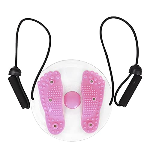 Twister Plate Twist Board, placa magnética, disco giratorio para adelgazar las piernas de la aptitud de la torcedura de la cintura del masaje del pie del equilibrio (rosa con cuerda)