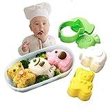 Rice Mold Bento Cookies Cutter Fish Sandwich Cutter Panda Sculpting Tools Kids Rice Mold Maker Cookie Cutter Elephant