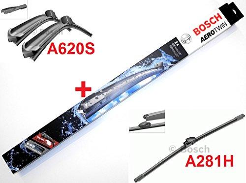 Bosch Scheibenwischer Front.- und Heckwischer Komplettsatz - Aerotwin A620S Längen: 600/475mm (3397007620) & Heckwischer A281H Länge: 280mm (3397008045)