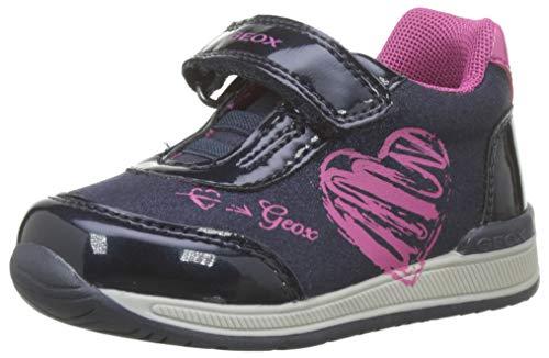 Geox Baby Mädchen B RISHON Girl B Sneaker, Blau (Navy/Fuchsia C4268), 25 EU