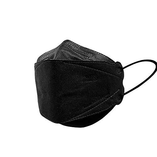 Wes Care 3D Premium Gesichtsmaske Black Edition (KF Design) | Hergestellt in Singapur | UV-sauber, weich & bequem, leicht zu atmen | Versand aus den USA
