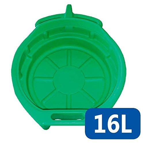Recogedor de Aceite de 16 litros Recipiente Coches Profesional Verde