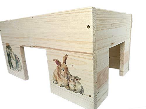 Nagerhaus Kaninchenhaus Hasen Kleintierhaus XXL mit 3 Eingängen