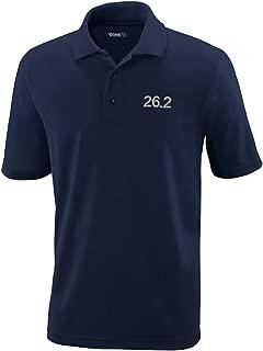 Custom Polo Performance Shirt 26.2 Marathon Runner A Embroidery Design Polyester