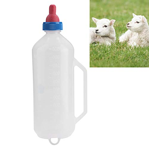 0.4 gal (1.5 L) Sheep/Cow/Baby Bottle/Nipple/Livestock/Pacifier/For Livestock/Breastfeeding/Cleaning/Removable, Handle Design, Clean, Farm Supplies, White