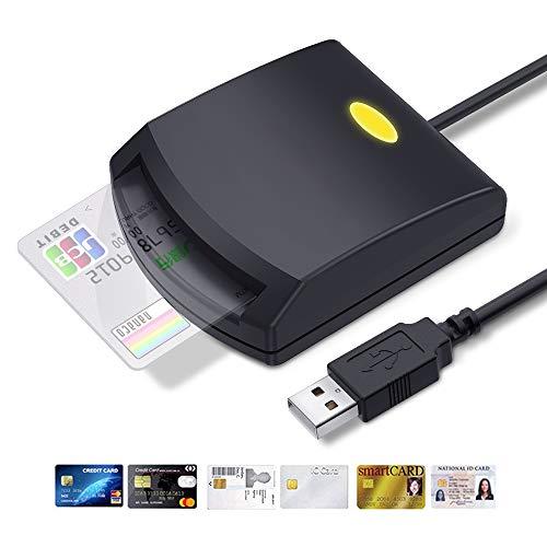 KOWLONE Lettore di Schede Smart, Dod Military USB Common Access CAC Card Reader ID/IC Lettore di Schede e-Tax Compatibile con Windows XP/Vista/Mac OS/Linux