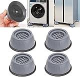 Detrade Support de machine à laver anti-vibration 4pcs, coussinets de support de machine à laver anti-vibration, support de machine à laver à réduction de choc et de bruit 4pcs,Tampons antivibration
