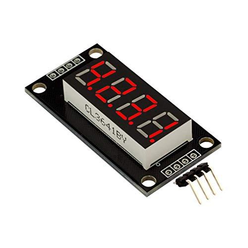 SWEEPID 0,36 Zoll TM1637 Treiber 4-stelliges LED-Anzeigeröhrenmodul für Arduino DIY Kits Rot ohne Zeitschaltuhr