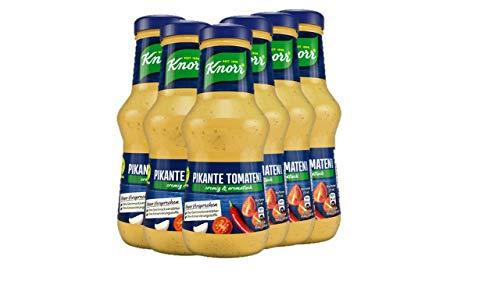 Knorr Schlemmersauce Pikante Tomate (würzig-aromatisch mit Tomaten, Chili und Knoblauch), 6er Pack (6 x 250 ml)