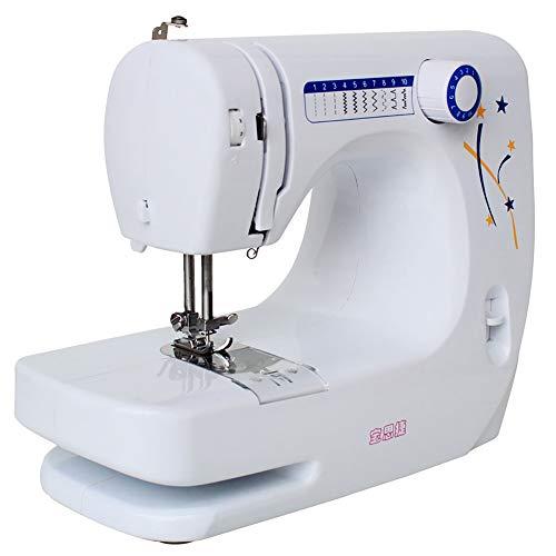 WANGLXST 10 steeknaaimachine, perfect voor gevorderden en naaibeginners, multifunctionele naaimachine, wit